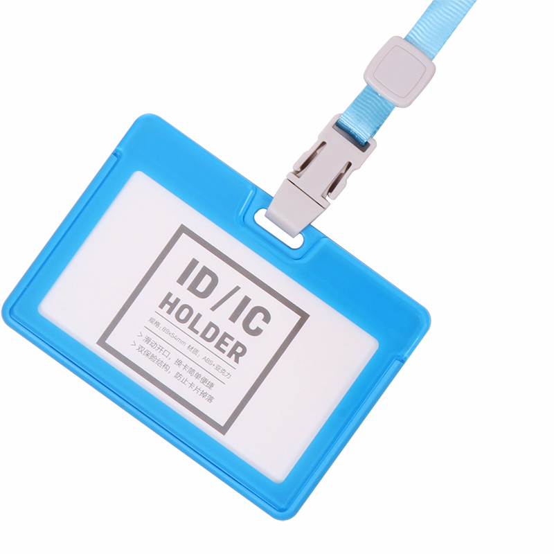 deli 33381 Color Identification Card Set Horizontal Bus Card Sets Upright Protective Plastic Id Holder Work Id Card Holder