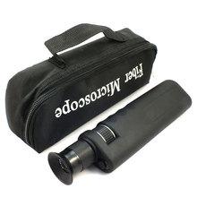 2.5mm 및 1.25mm 어댑터가있는 휴대용 400x 광섬유 검사 현미경