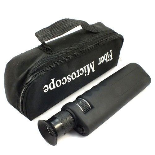 ハンドヘルド 400X 繊維光学検査顕微鏡 2.5 ミリメートル & 1.25 ミリメートルアダプタ