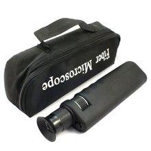 Microscope dinspection optique tenu dans la main de la Fiber 400X avec ladaptateur 2.5mm et 1.25mm
