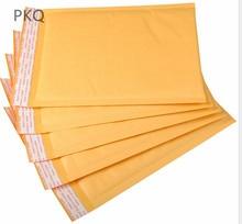 Bolsas de envelope para bolhas, bolsas de envelopes de papel de embalagem engrossadas amarelas com 19 tamanhos, 100 peças