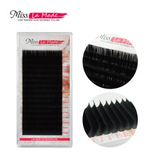1 pc 0.07 JBCD Curl 16 rows per tray Volume Eyelash Extension Mink  False Fake Lashes