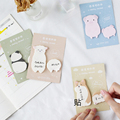 1X Cute Fat little animal weekly plan Sticky Notes Post Memo Pad kawaii stationery School Supplies Planner Stickers Paper