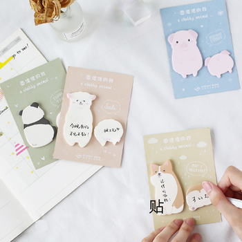 1X Cute Fat little animal weekly plan Sticky Notes Post Memo Pad kawaii stationery School Supplies Planner Stickers Paper 1x cute wreath post it notes weekly plan sticky notes post it memo pad kawaii stationery school supplies planner stickers paper