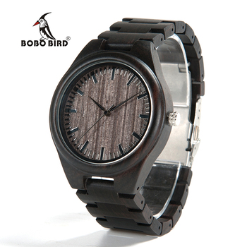BOBO BIRD Men s Wood Wrist Watch Classic Folding Clasp Japan 2035 Movement Quartz Watch montre