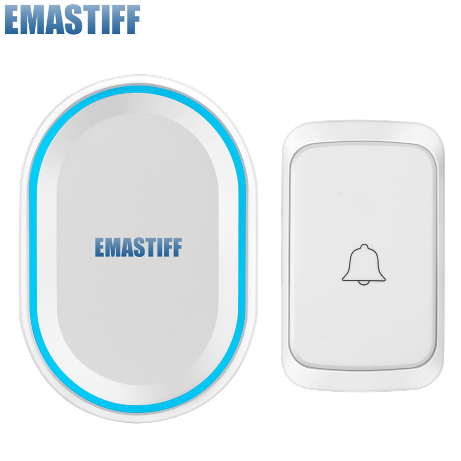 Smart Wireless Doorbell Waterproof 300M Range Remote AC 100-240V Door Bell High Quality Home 58 Chimes Door Ring