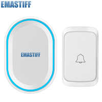 smart wireless doorbell waterproof 300M range remote AC 100-240V door bell high quality home 58 chimes door ring