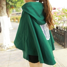 Attack on Titan Anime Shingeki no Kyojin Green Cloak Anime Cosplay Costume Party 2 Color The Scouting Legion