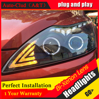 Auto Clud Car Styling For 2009 Ford Focus2 LED Headlight Focus Headlights DRL Lens Double Beam