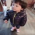 Novo inverno casaco infantil roupas de bebê unissex engrosse com capuz para baixo jaqueta de algodão-acolchoado sólidos crianças outerwear infantil 80-100 cm