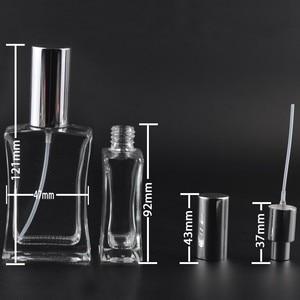 Image 4 - 50ml Glazen Navulbare Parfumfles Verstuiver hoogwaardige Lege Cosmetische Container Draagbare Parfum Spray Fles met Pakket