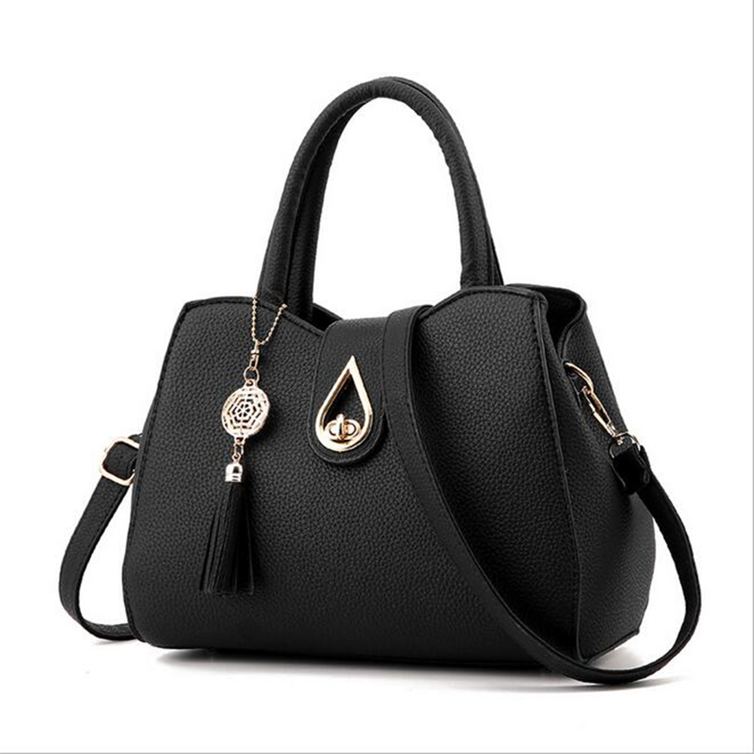 2017 Spring Summer women hand bag women leather handbags black Fashion shoulder bag messenger bag bolsas wholesale