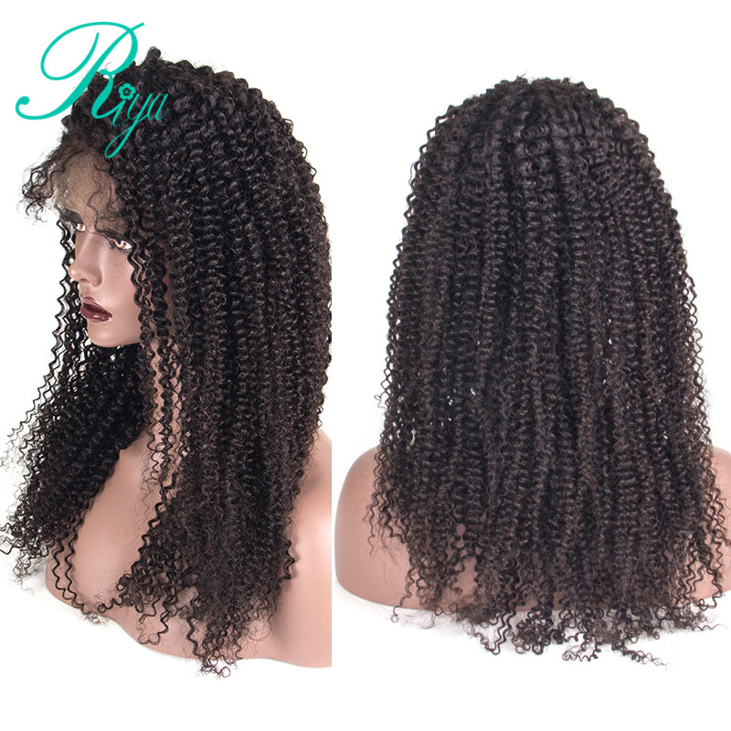 Initiative Lace Front Human Hair Wigs For Black Women Remy Brazilian Kinky Curly Wig Pre Plucked With Natural Baby Hair Riya Hair Lace Wigs