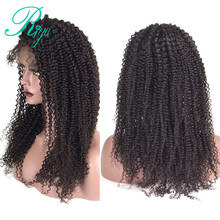 Lace Front Human Hair Wigs For Black Women Remy Brazilian Kinky Curly Wig Pre Plucked With Natural Baby Hair Riya Hair