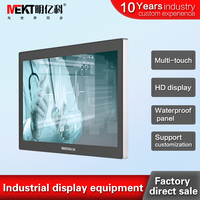 Industrial Embedded Touch Monitor 27inch capacitive touch screen monitor/display Flat without border HDMI monitor