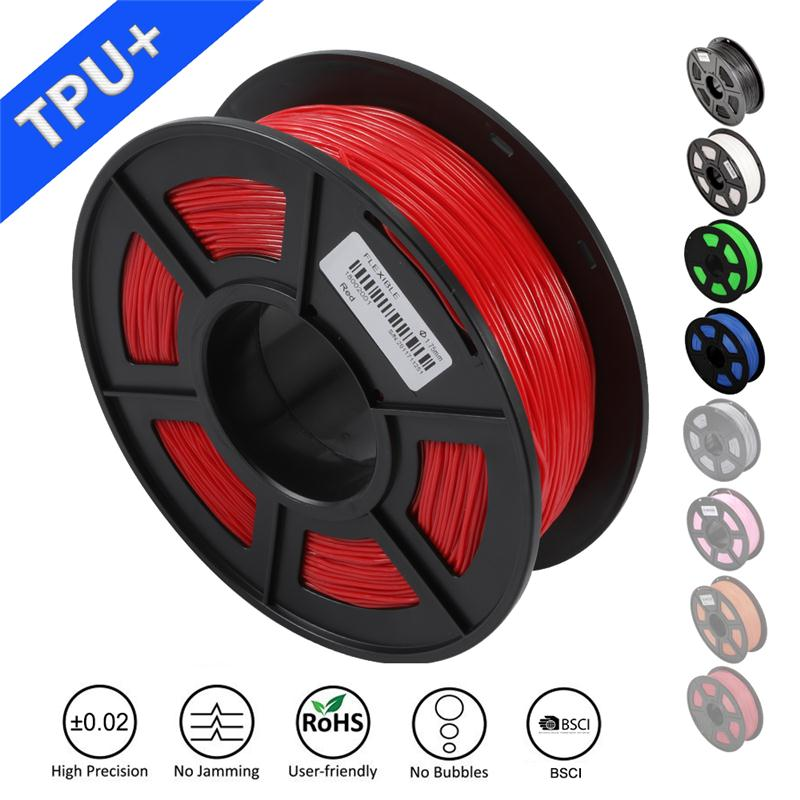SUNLU TPU 1.75MM 0.5KG flexible filament with full color for 3d pen with OEM and ODM supports 0.5KG 95A shore hardnessSUNLU TPU 1.75MM 0.5KG flexible filament with full color for 3d pen with OEM and ODM supports 0.5KG 95A shore hardness