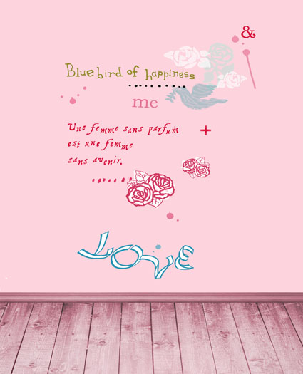 LIFE MAGIC BOX 5X7Ft Photography Backdrops Background Pink Wood Floor, Pink Walls To Write Letters Of The Alphabet Cm-5259
