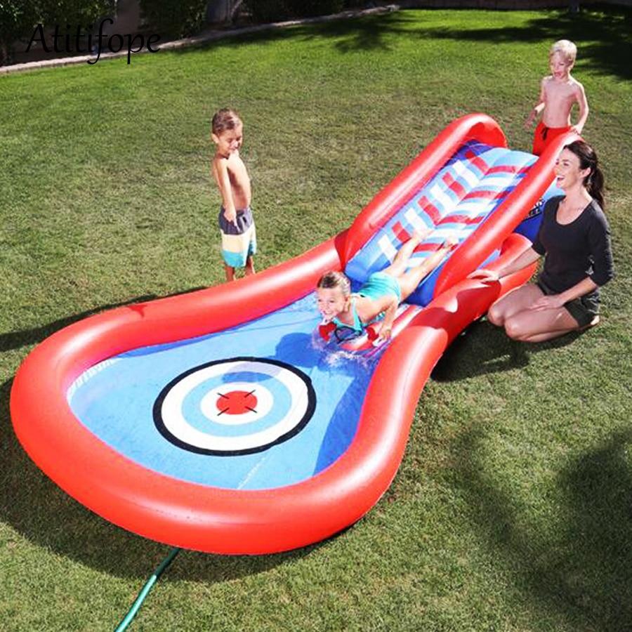 Water play slide baby inflatable pool kids summer pool  1