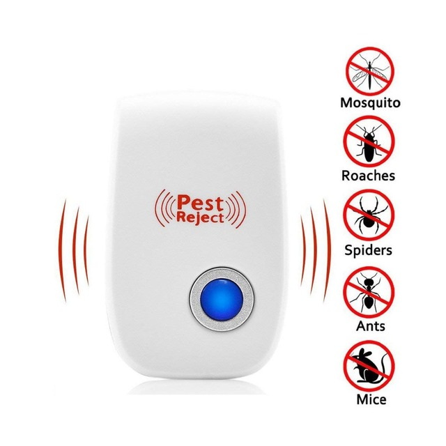VIP Ultrasonic Pest Repeller Electronic Plug Indoor Repellent With Blue Display Light