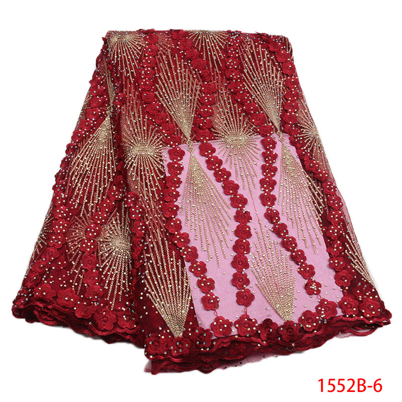 African Tulle Lace Fabric High High Quality Net Swiss Voile Lace Embroidery Wine French Mesh 2018