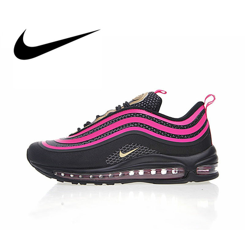 Original authentique 2019 nouveauté Nike AIR MAX 97 OG femmes chaussures de course sport respirant baskets amortisseur 313054