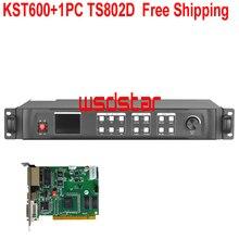 KST600 + 1PC TS802D wyświetlacz LED procesor wideo 1920*1200 DVI/HDMI/VGA/CVBS gorąca wyprzedaż LED procesor wideo darmowa wysyłka