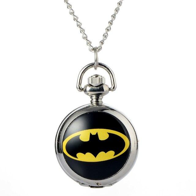 Retro Bronze Batman Quartz Pocket Watch Steampunk Clock Watches Look Hour Mens W