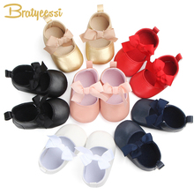 Fashion Princess Baby Shoes Girls Bow Shallow Party