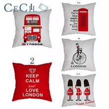 Cartoon Printed Car Bus Bicycle Cotton Linen Car Cushion Cover Decorative Pillowcase Home Decor Sofa Throw Pillow Cover все цены