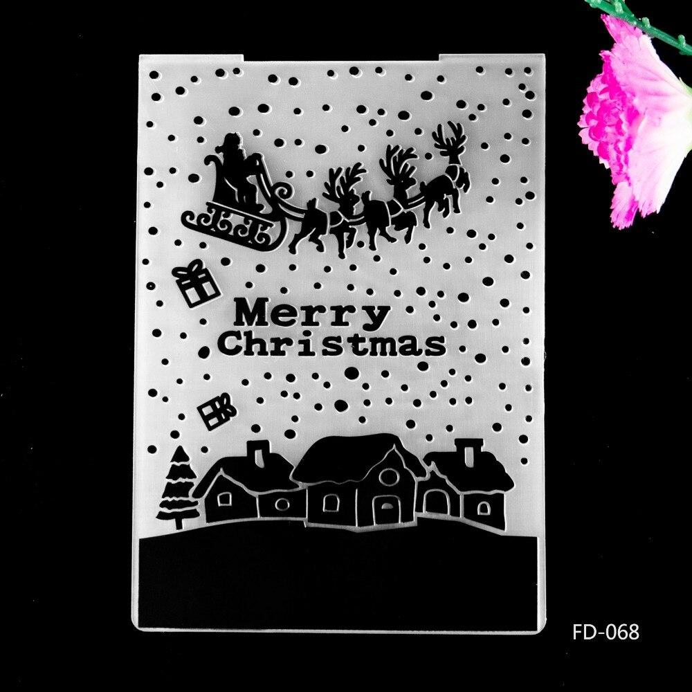 2017 New Arrival Scrapbook Merry Christams design DIY Paper cutting dies SCRAPBOOKING PLASTIC EMBOSSING FOLDER EF01