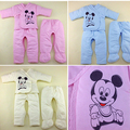 3PCS/Suit  2014 New Fashion Baby Warm Cotton Suit / Bind Foot/ 3 Colors/Free Shipping