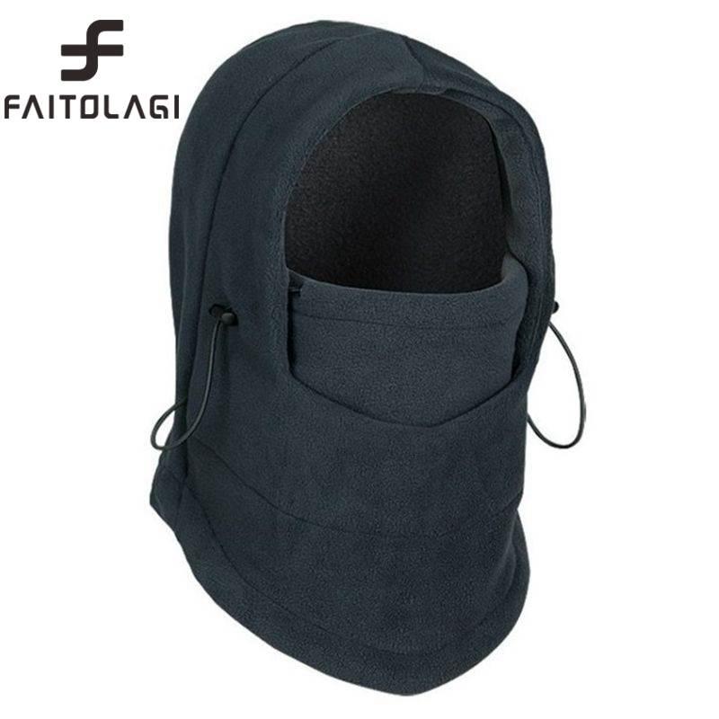 Winter Warmer Cap gorro Hats for Men Women bonnet Hood Cover Scarf Neck Warmer Fleece Skull Ski Face Mask Beanies bonnet homme