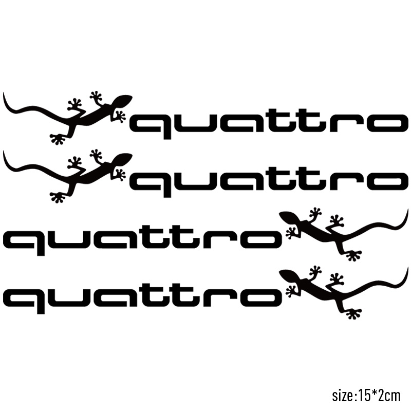4 Pieces Set Quattro Handdoor Stickers Car Styling For Audi A4 B6 A3