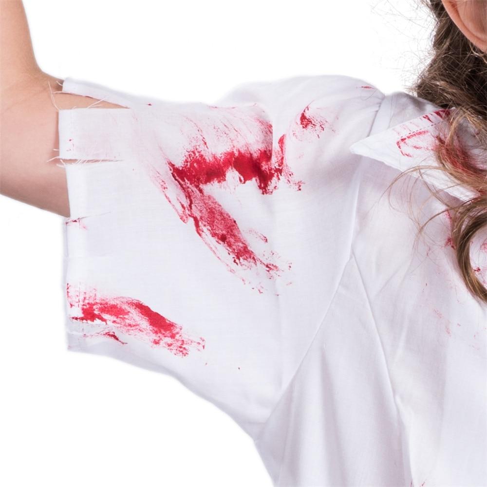 Coslive Dressvoguer Halloween Girls Blood Nurse Cosplay Costume Doctor Uniform Fancy Dress Cosplay For Girl Halloween Party