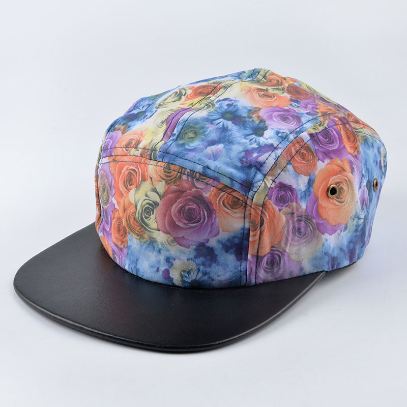2016 summer Floral pattern five 5 panel hat strapback snapback cap hip hop baseball hats for men women brand bone gorras