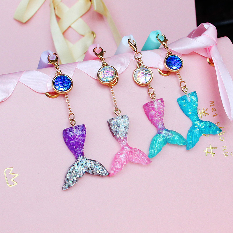 1PC Kawaii Crystal Gel Pens Cute Mermaid Pens Pendant Neutral Pens For Kids Gift School Office Supplies Stationery