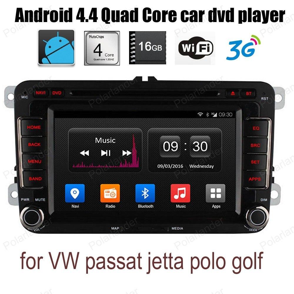 Android4.4 voiture CD DVD FM AM radio pour V/W p/assat j/etta p/olo g/olf soutien wifi 3G BT GPS DAB + DVR TPMS DTV OBDII