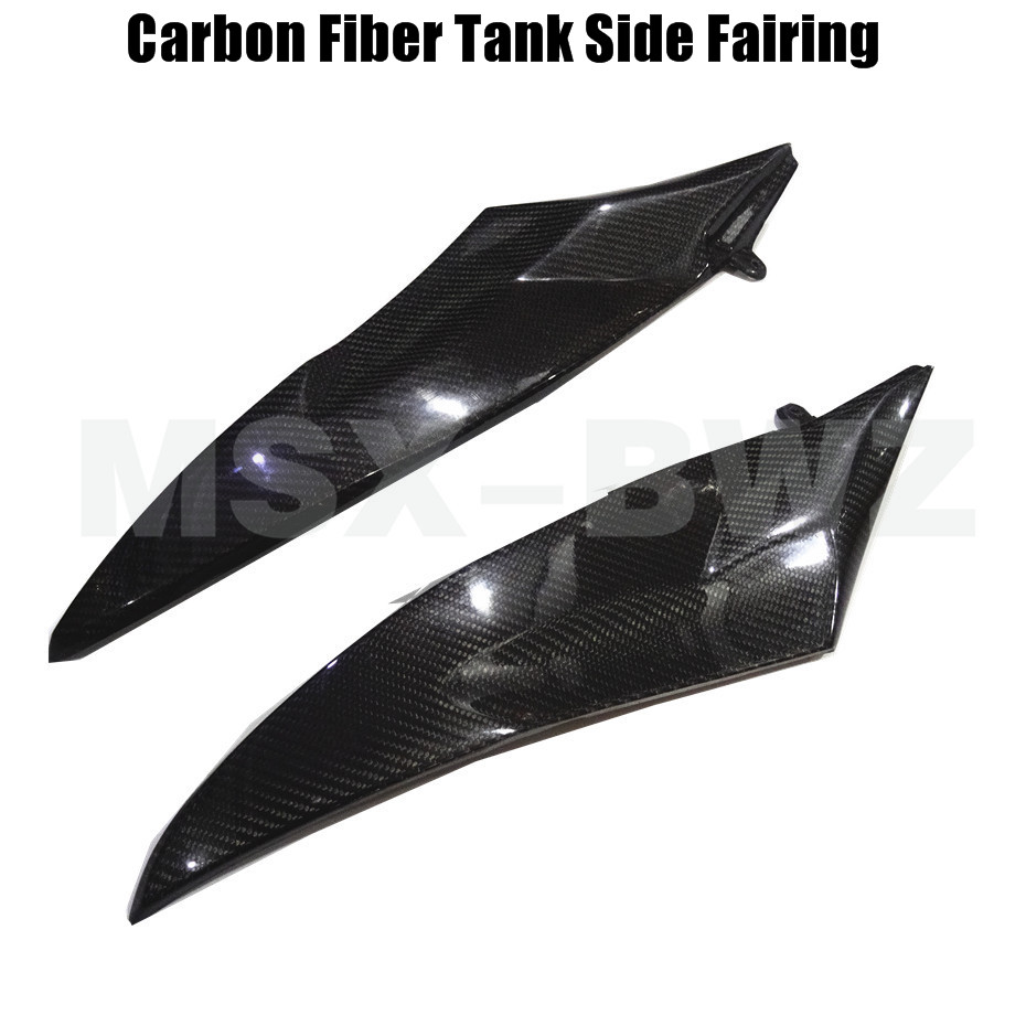 Motorcycle Carbon Fiber Tank Side Cover Panel Fairing For Yamaha YZF R6 2006-2007 Moto Accessories Black