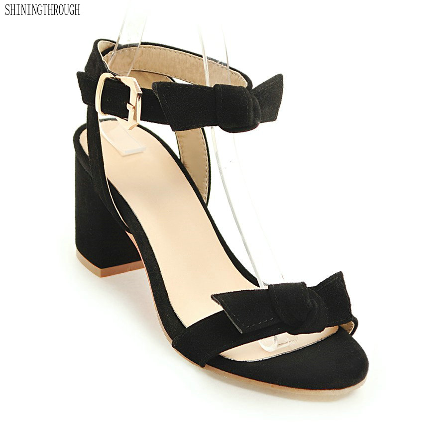 2018 New Summer Women Sandals Open Toe Womens Sandles Thick Heel Women Shoes sweet Style Gladiator Shoes woman
