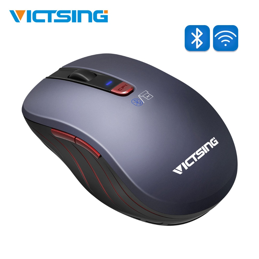 VicTsing 2.4G Wireless Mouse Bluetooth Mouse Portable Computer Mouse with 12 Month Battery Life for PC/Laptop/Mac OS/Notebook image
