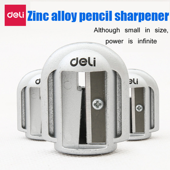 Deli 1pcs Pencil Sharpener Metal Aluminum Office Supplies Student Learning Stationery Creative Simple Portable Durable Strong deli stationery pencil sharpener office