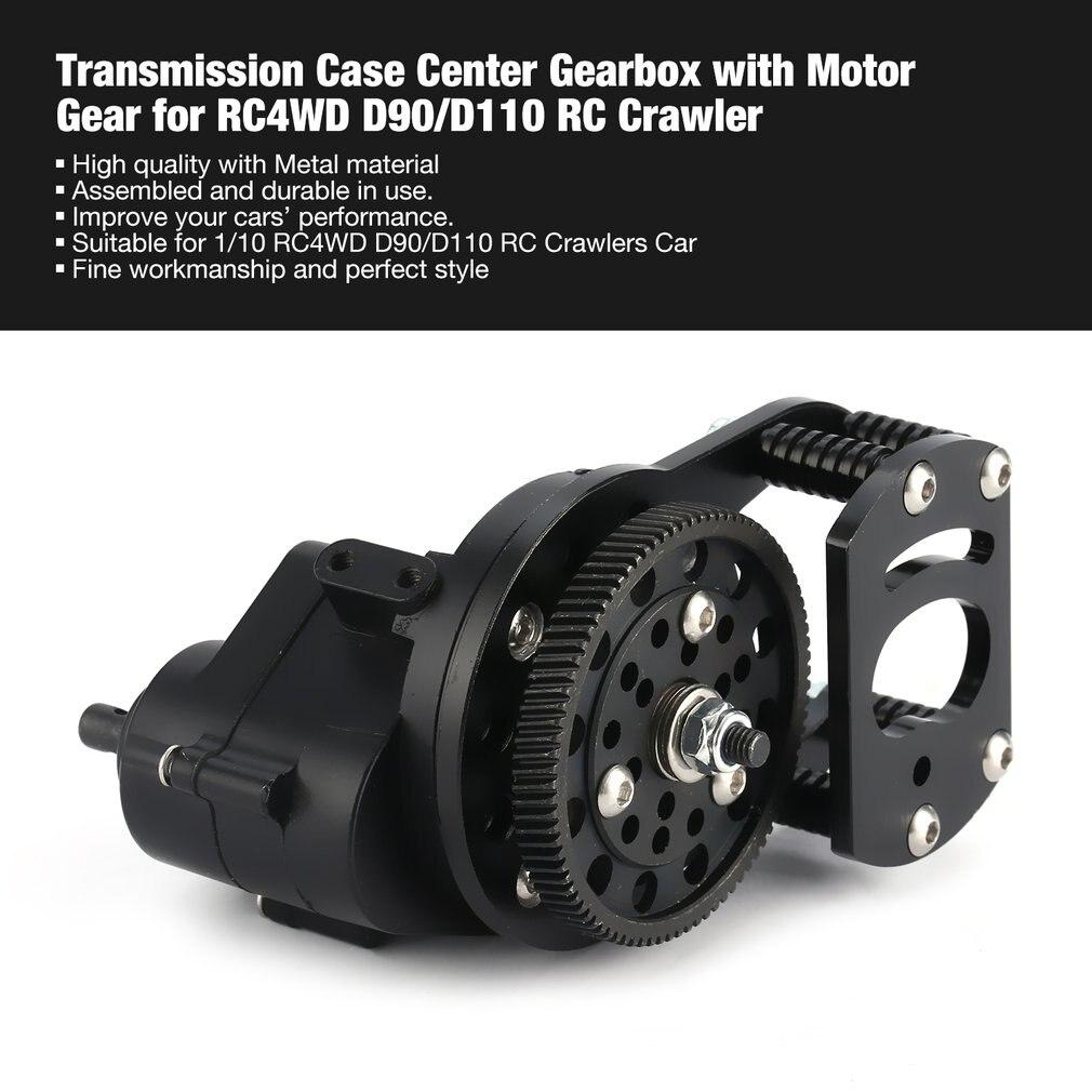 Boîte de vitesses centrale de boîte de Transmission assemblée en métal de CNC avec la vitesse de moteur en métal pour 1/10 RC4WD D90/D110 RC Crawlers Car