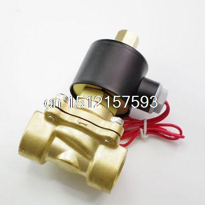 DC12/24V AC110/220/380V Water Air Gas Fuel Normal Open Solenoid Valve 1/4