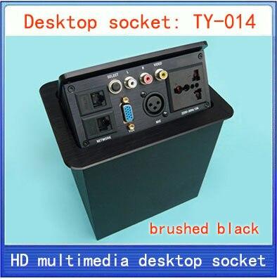 Desktop socket / hidden multimedia information box outlet /network RJ45/ video Audio / XLR / VGA Interface desktop socket TY-014 цена 2017