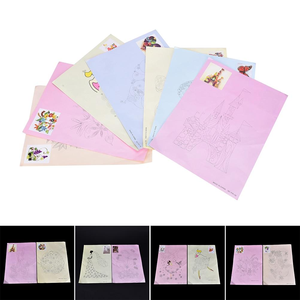 Scrapbook paper aliexpress - Diy Scrapbooking Paper Quilling Tools Set 8 Pz 16 Stile Paper Quilling Disegno Collection Photo Decorazione