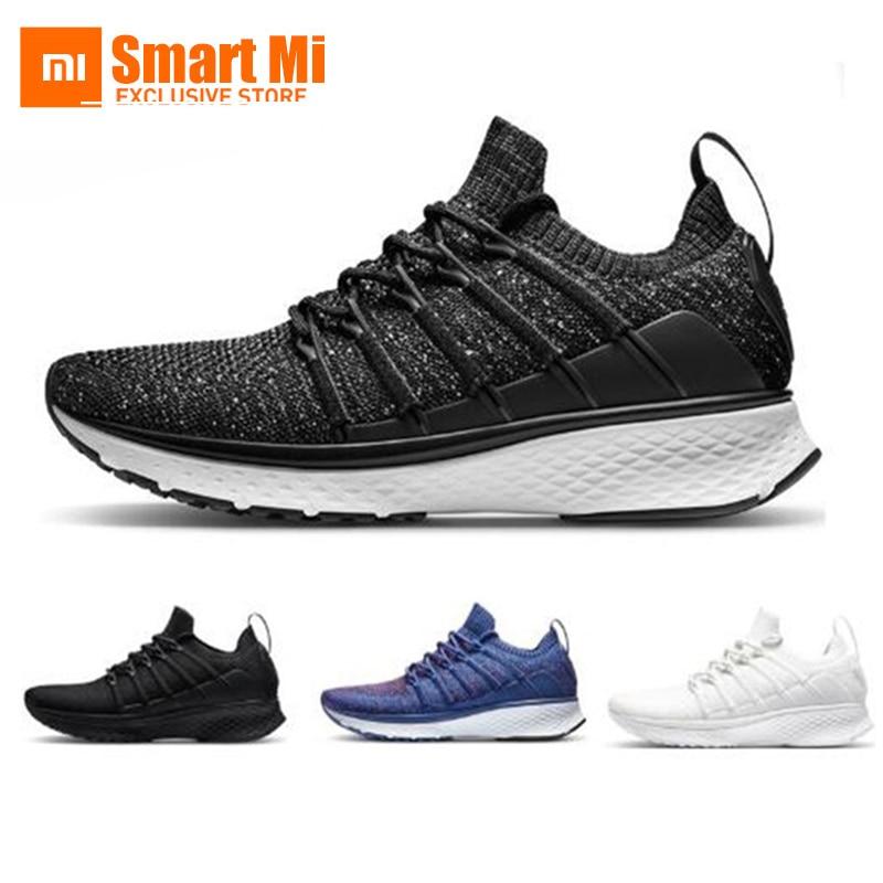 Chaussures d'origine Xiaomi Mijia 2 baskets Sport Uni-moulage Techinique système de verrouillage en arête de poisson empeigne à tricoter élastique pour hommes et femmes
