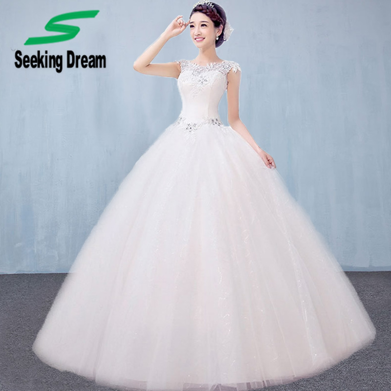 Dw2815 Princess Ball Gown Wedding Dresses 2017 Lace With: 2017 New White Ball Gown Dress Strapless Wedding Dress