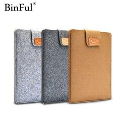 BinFul 9,7 11,12, 13,15, 17 zoll Wollfilz Inner PC Notebook Laptop Sleeve Tasche Fall Tragegriff Tasche Für Macbook Air/Pro/ retina