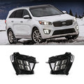12V Car LED DRL Daytime Running Light Kits Fog Lamp For KIA New Sorento 2015 2016