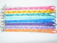 Girls Pink Butterfly Painting Badge Lanyard 10pcs Lots Butterflies Mobile Phone Neck Straps Wholesaler